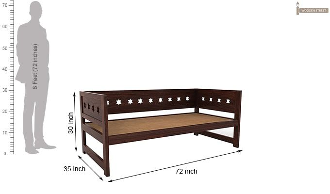 Swayze Divan Without Storage (Walnut Finish)-6
