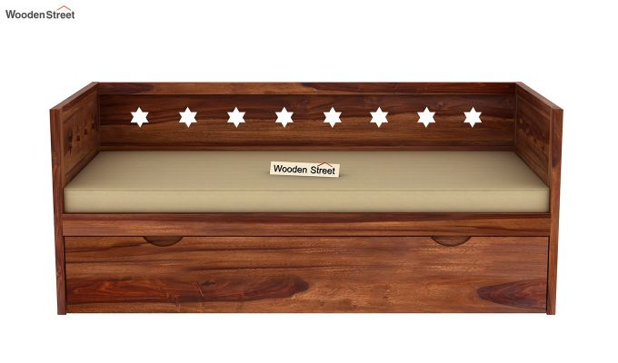 Swayze Divan With Storage (Teak Finish)-4