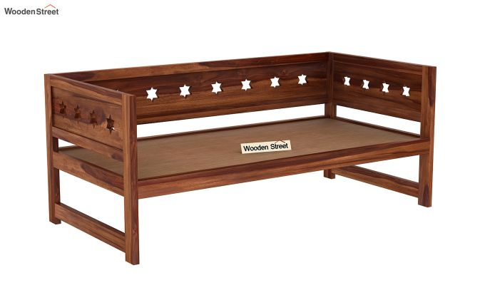 Swayze Divan Without Storage (Teak Finish)-5