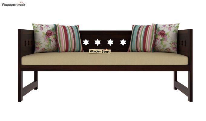 Swayze Divan Without Storage (Walnut Finish)-4