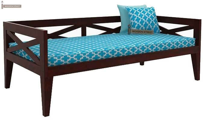 Travolta Divan (Mahogany Finish)-3