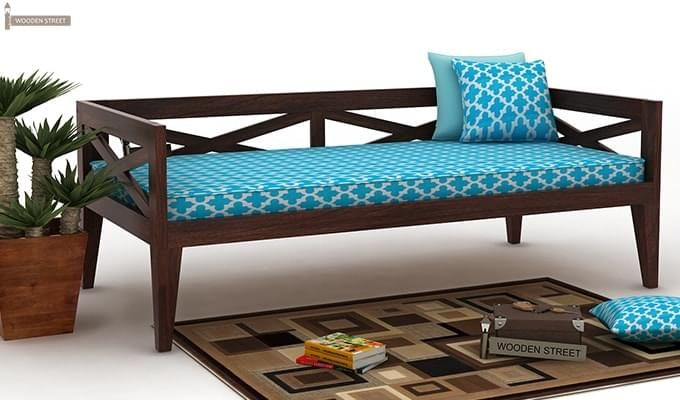 Travolta Divan (Walnut Finish)-1