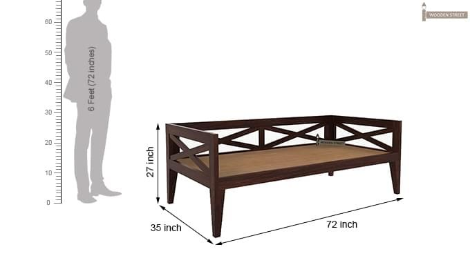 Travolta Divan (Walnut Finish)-6