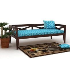 Travolta Divan (Walnut Finish)