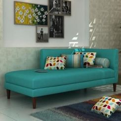 Corvette Chaise Lounge (Cyan)