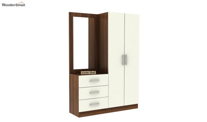 Finley Dressing Table with Frosty White Drawer (Exotic Teak Finish)-2