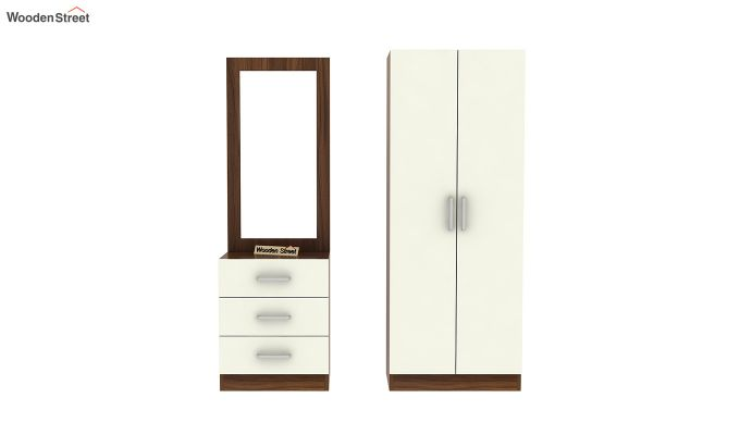 Finley Dressing Table with Frosty White Drawer (Exotic Teak Finish)-6