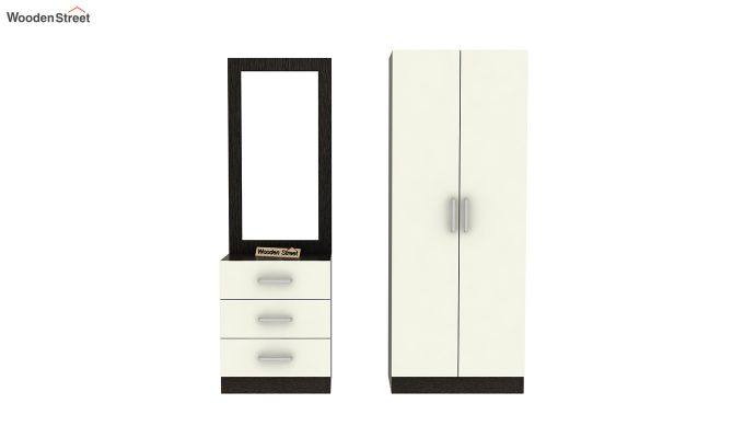 Finley Dressing Table with Frosty White Drawer (Flowery Wenge Finish)-6