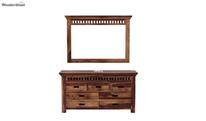 Adolph Dressing Table (Teak Finish)-3