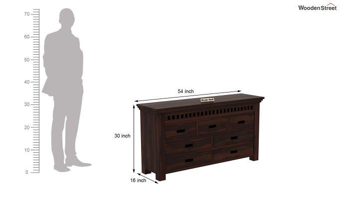 Adolph Dressing Table (Walnut Finish)-7