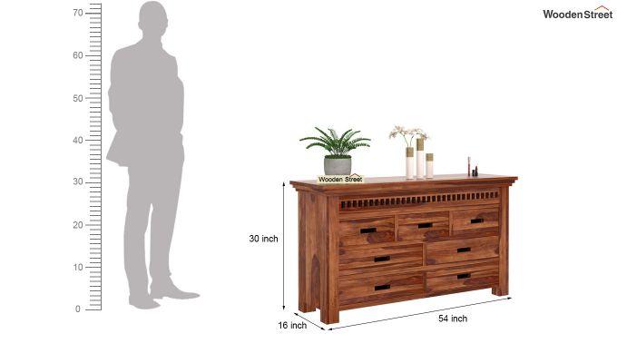 Adolph Dressing Table (Teak Finish)-5