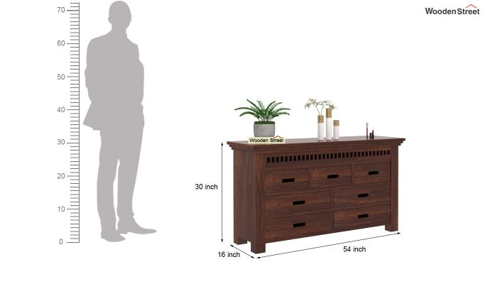 Adolph Dressing Table (Walnut Finish)-5