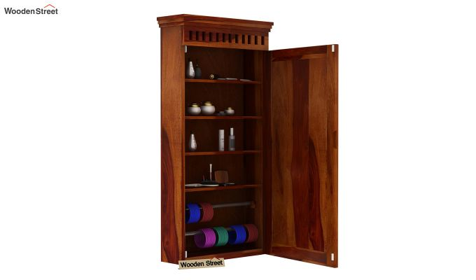 Adolph Wall Mounted Dresser (Honey Finish)-4