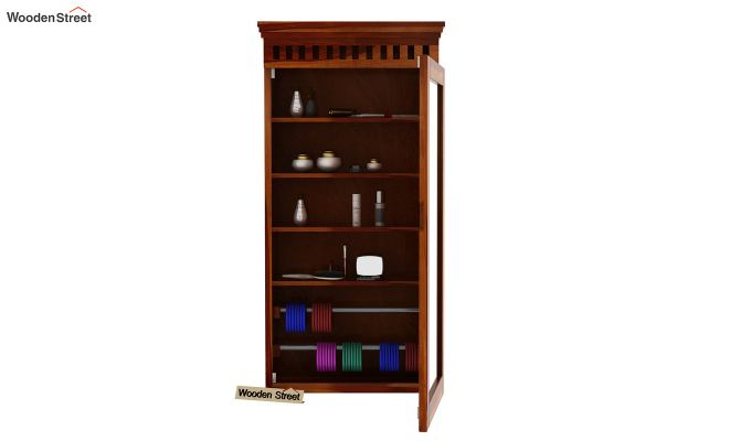 Adolph Wall Mounted Dresser (Honey Finish)-5