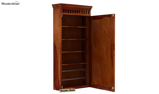 Adolph Wall Mounted Dresser (Honey Finish)-6