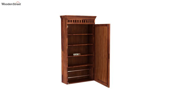 Adolph Wall Mounted Dresser (Honey Finish)-4