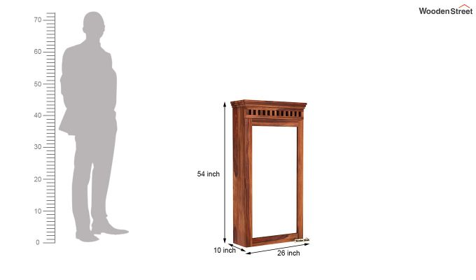 Adolph Wall Mounted Dresser (Honey Finish)-6
