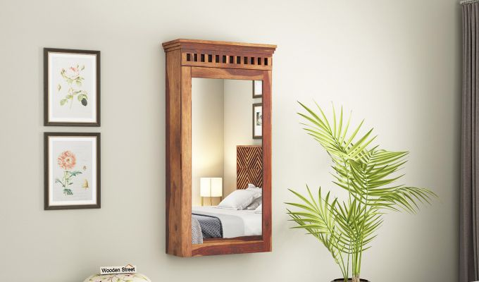 Adolph Wall Mounted Dresser (Teak Finish)-1
