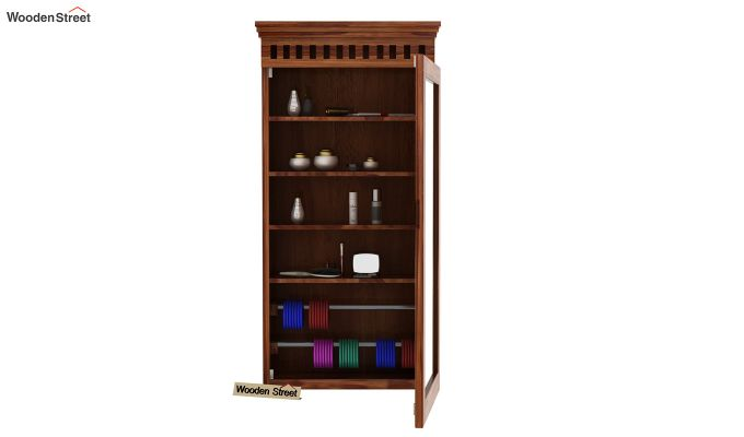 Adolph Wall Mounted Dresser (Teak Finish)-4