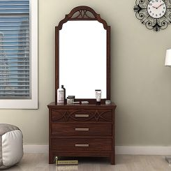 Allan Dressing Table (Walnut Finish)