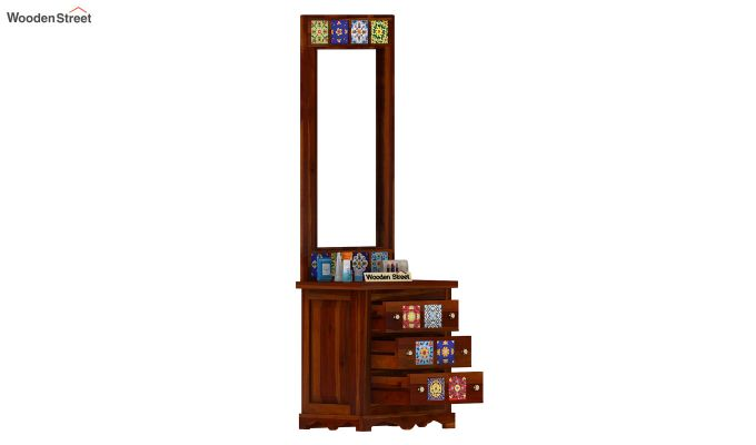 Boho Dressing Table (Honey Finish)-5