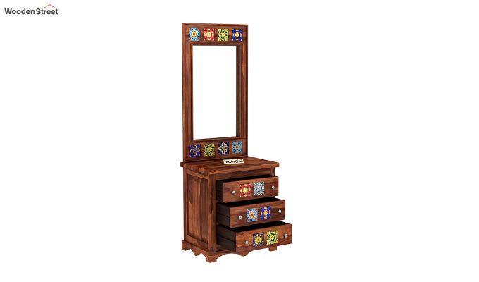 Boho Dressing Table (Honey Finish)-4
