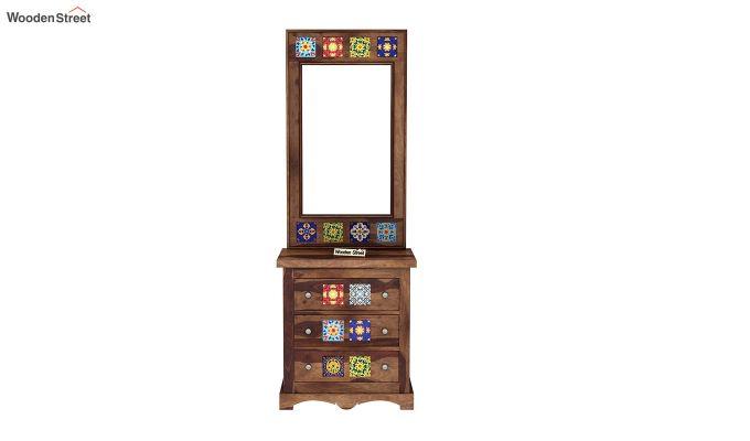 Boho Dressing Table (Teak Finish)-3