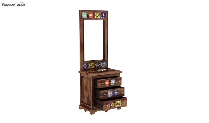 Boho Dressing Table (Teak Finish)-4