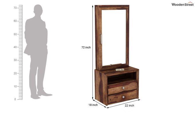 Carvel Dressing Table (Teak Finish)-6