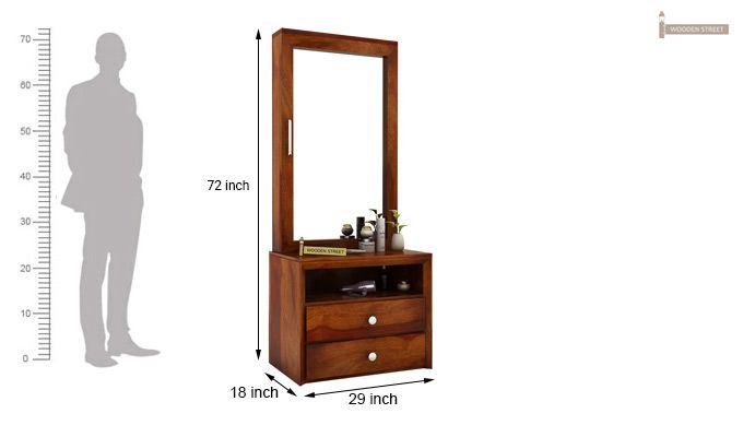 Carvel Dressing Table (Honey Finish)-10