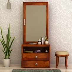 Carvel Dressing Table (Honey Finish)