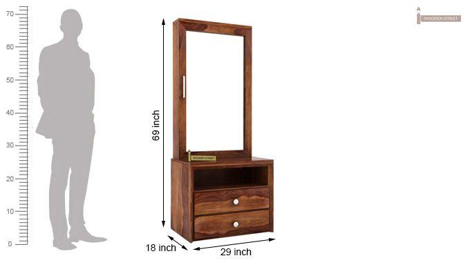 Carvel Dressing Table (Teak Finish)-4