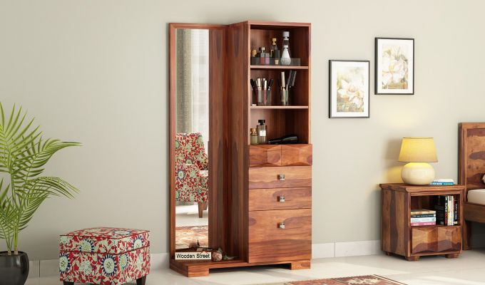 Cinader Dressing Table (Honey Finish)-1