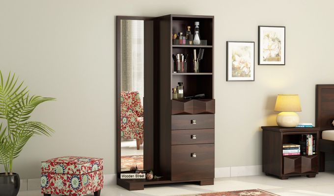 Cinader Dressing Table (Walnut Finish)-1