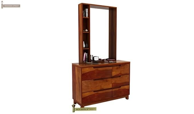 Durant Dressing Table (Honey Finish)-2