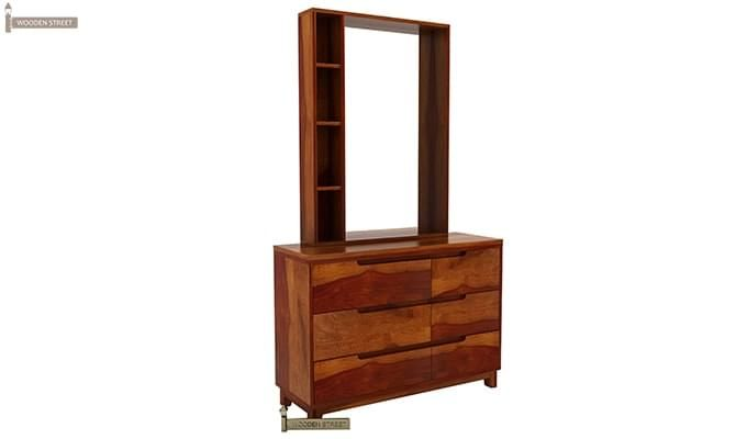 Durant Dressing Table (Honey Finish)-3