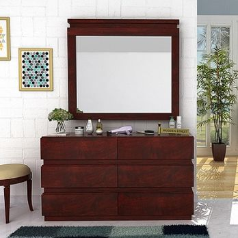 florian dressing table with mirror designed with 6 drawers