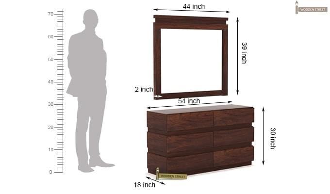Florian Dressing Table (Walnut Finish)-8