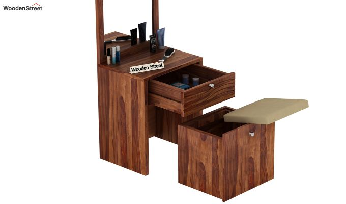Franklin Dressing Table (Teak Finish)-6