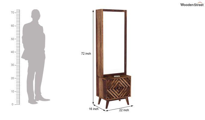 Horton Dressing Table (Teak Finish)-5