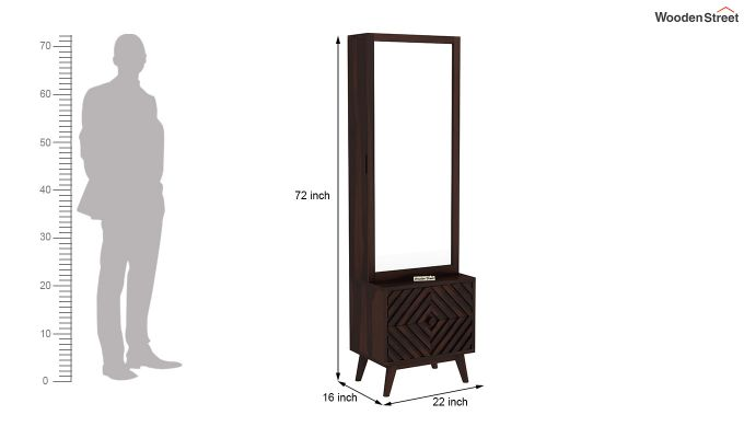 Horton Dressing Table (Walnut Finish)-5
