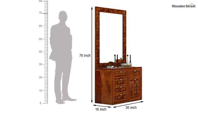 Howler Dressing Table (Honey Finish)-6