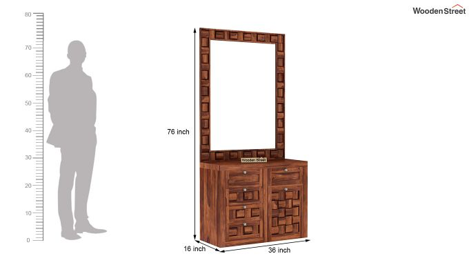 Howler Dressing Table (Honey Finish)-5