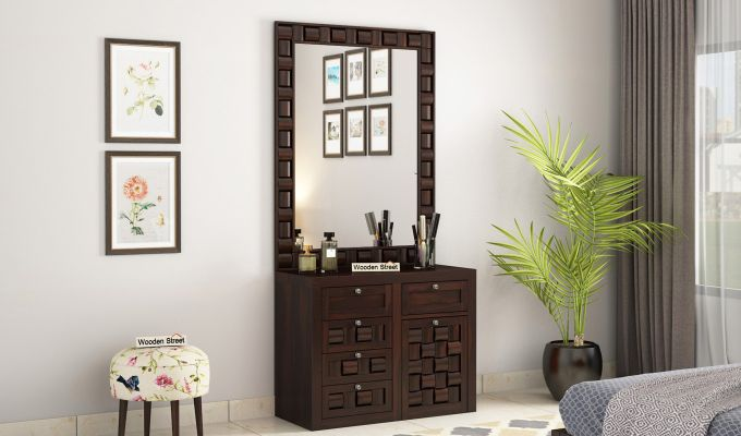 Howler Dressing Table (Walnut Finish)-1