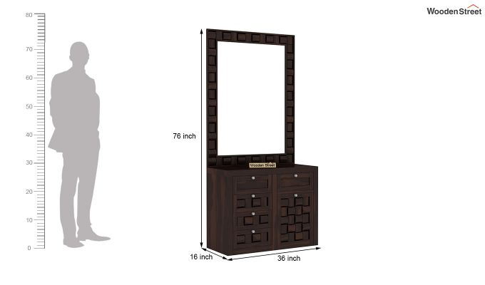 Howler Dressing Table (Walnut Finish)-5