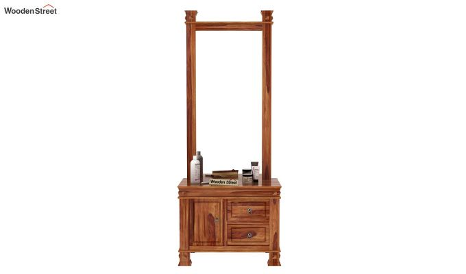 Kingsley Dressing Table (Teak Finish)-2