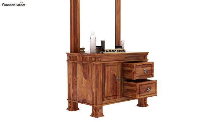 Kingsley Dressing Table (Teak Finish)-5