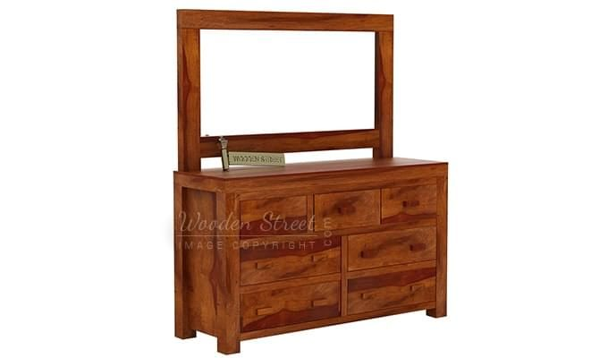 Laura Dressing Table (Honey Finish)-2