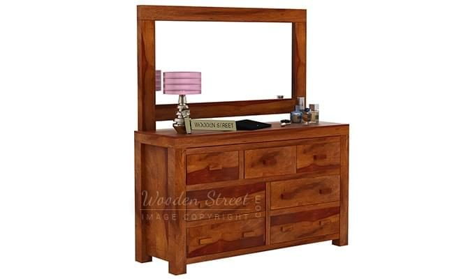 Laura Dressing Table (Honey Finish)-5