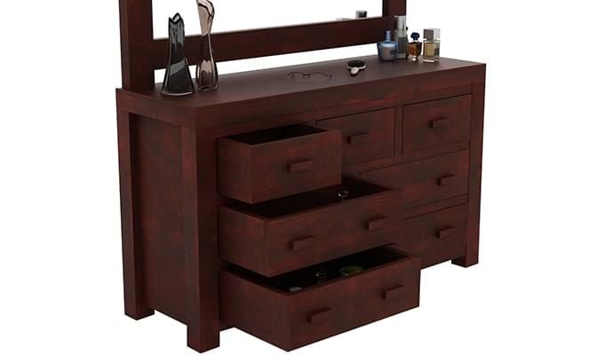Laura Dressing Table (Mahogany Finish)-3